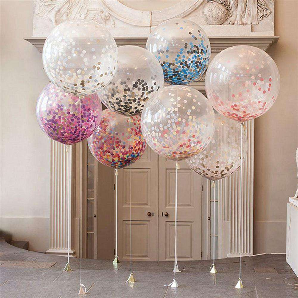 "36"" Giant Ecofriendly Clear Transparent Latex Helium Air Balloons"