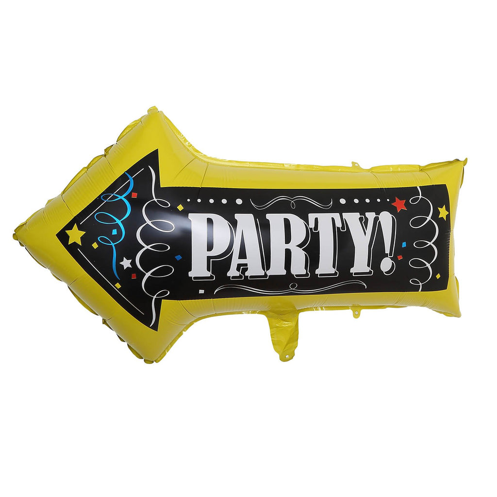 "2 Pack | 30"" Party Sign Arrow Foil Balloons 