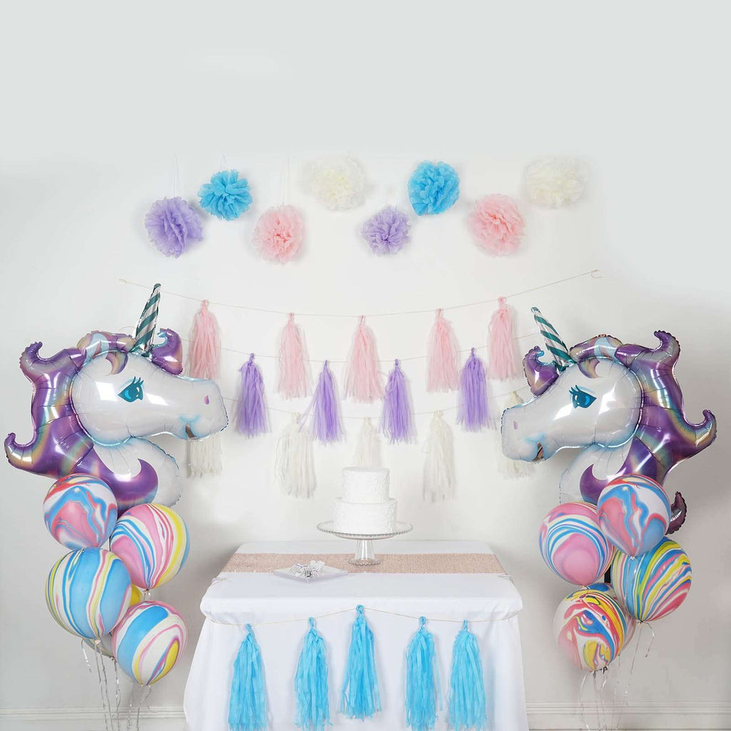 42 PCS Unicorn Theme Party Decoration Supply Kit