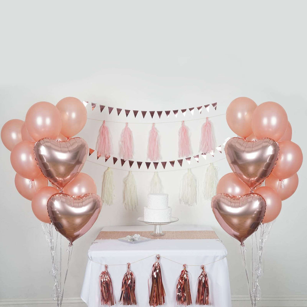 40 PCS Wedding Birthday Party Decoration Supply Kit - Coral/Pink