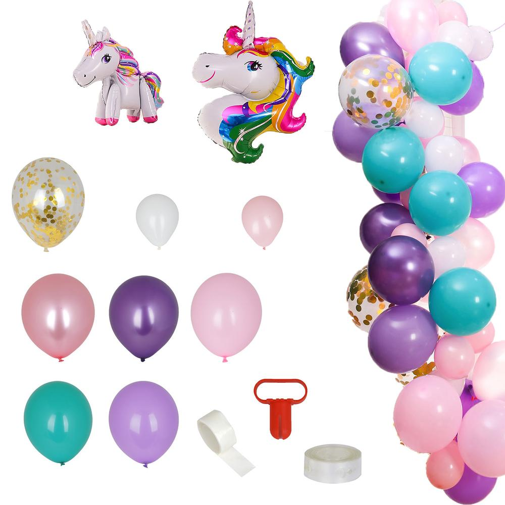 105 Pack DIY Balloon Garland Kit | Balloon Arch Unicorn Themed Party Decorations - Assorted Color