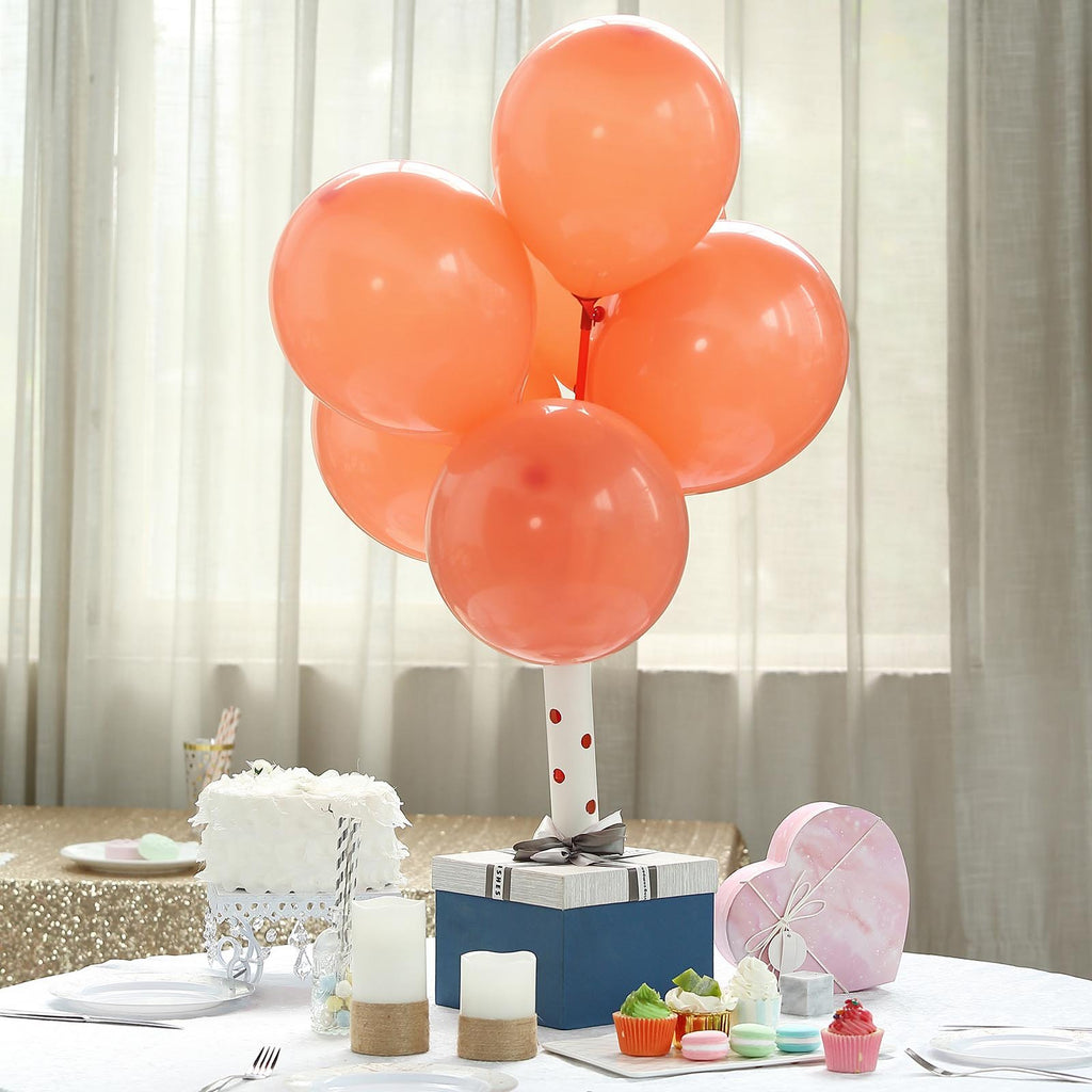 "25 Pack | 10"" Pastel Coral Round Latex Helium Balloons 