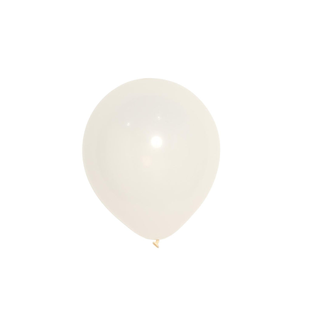 "25 Pack | 10"" Pastel Off White Round Latex Helium Balloons 