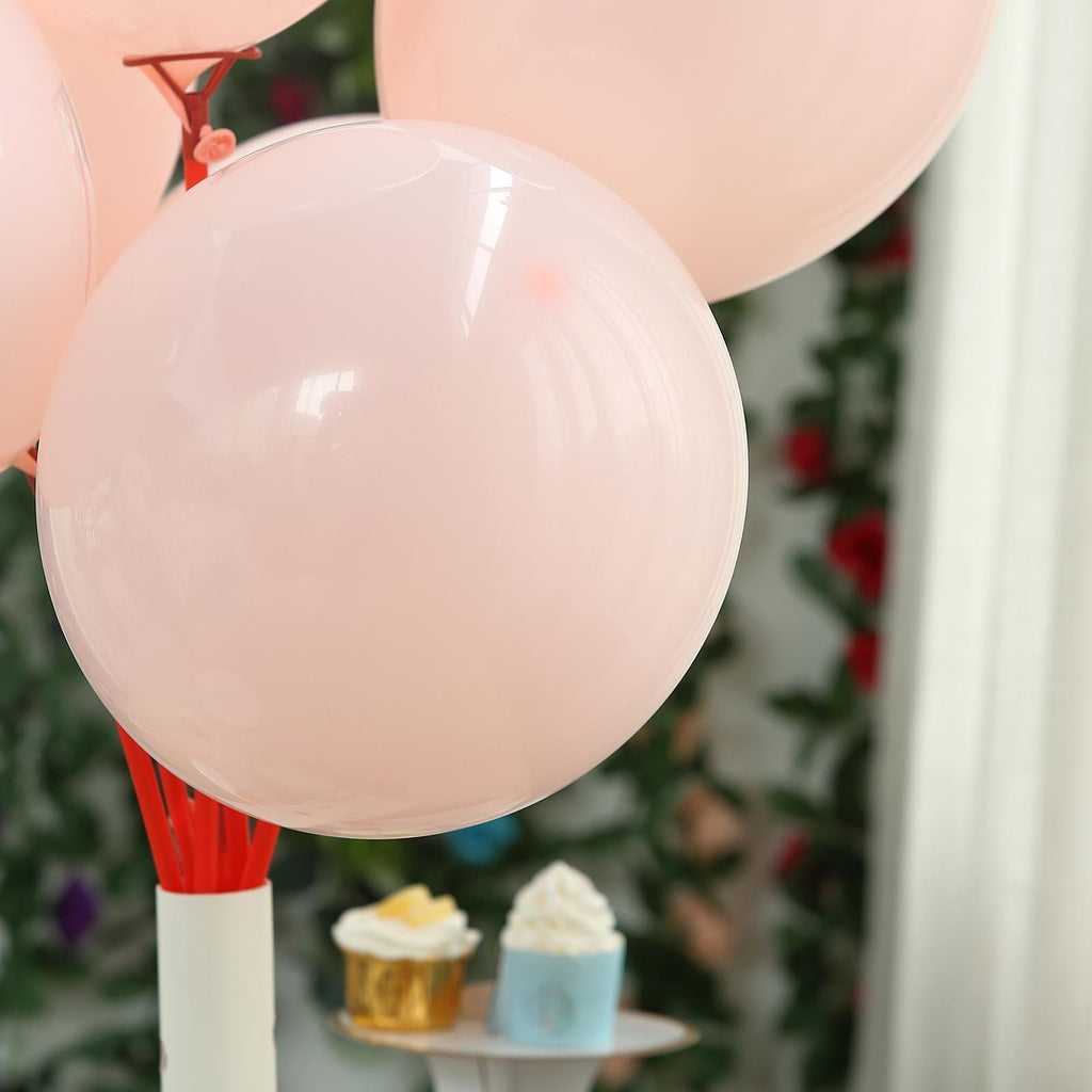 "25 Pack | 12"" Pastel Blush Latex Helium Balloons 