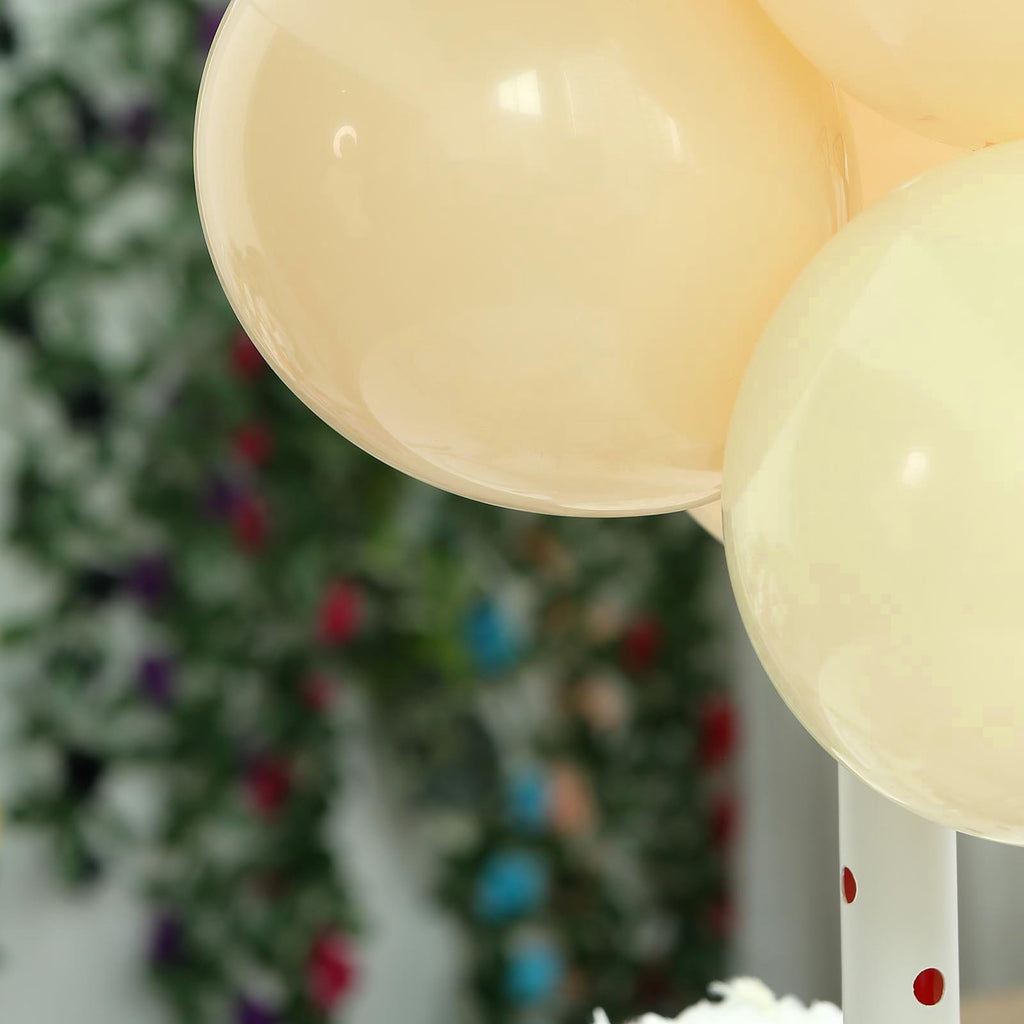 "25 Pack | 12"" Pastel Champagne Latex Helium Balloons 