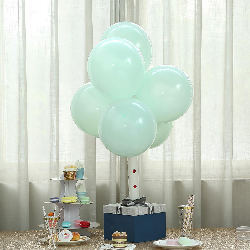 "25 Pack | 12"" Pastel Mint Latex Helium Balloons 