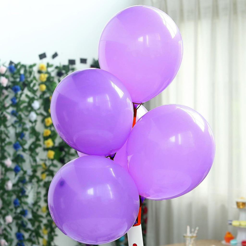 "25 Pack | 12"" Pastel Purple Latex Helium Balloons 