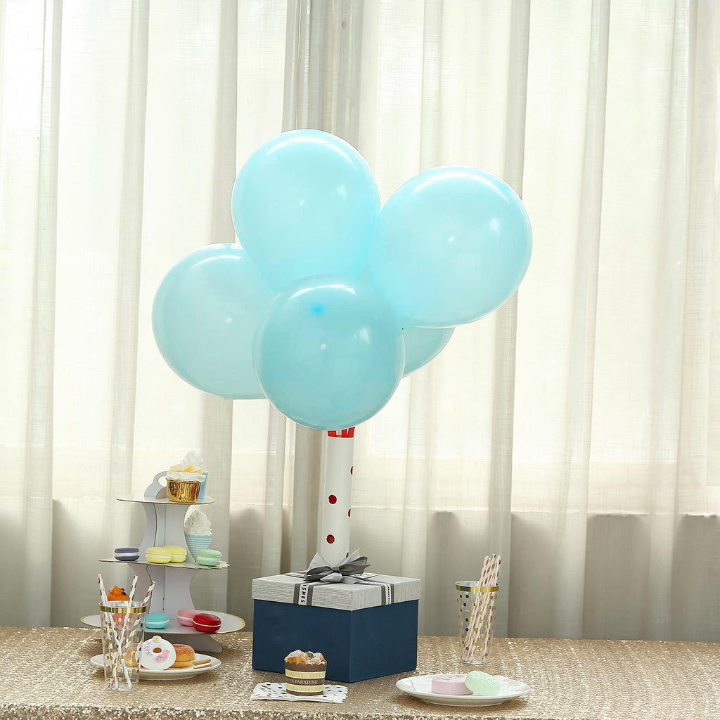 "25 Pack | 12"" Pastel Turquoise Latex Helium Balloons 