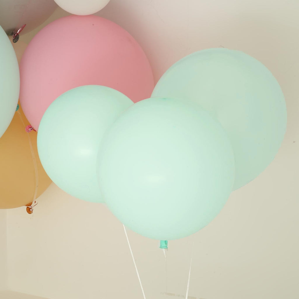 "10 Pack | 18"" Pastel Seafoam Round Latex Balloons 