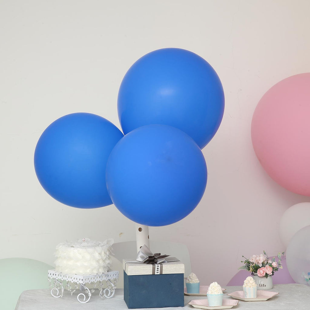 "10 Pack | 18"" Royal Blue Round Latex Balloons 