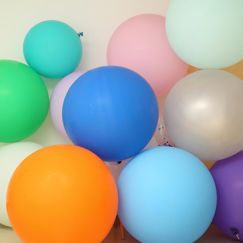 "2 Pack | 32"" Large Pastel Mint Round Latex Balloons 
