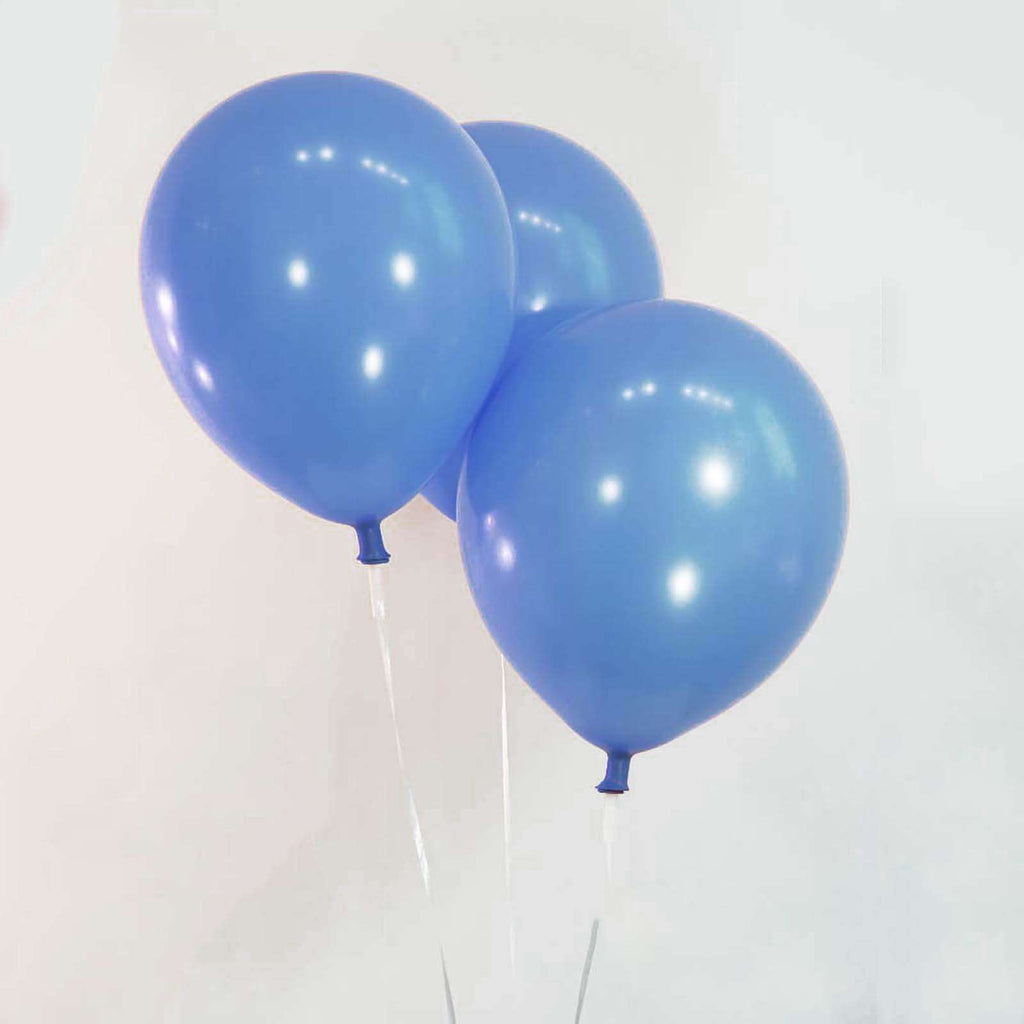 "25 Pack 12"" Blue Metallic Latex Water Air Helium Party Balloons"