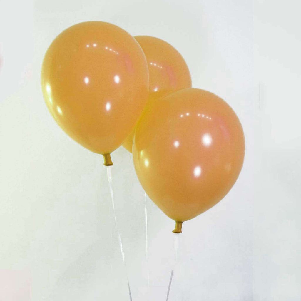 "25 Pack 12"" Antique Gold Metallic Latex Water Air Helium Party Balloons"