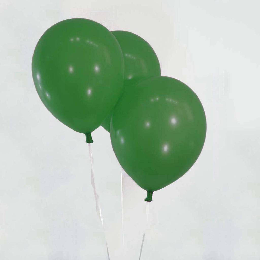 "25 Pack 12"" Green Metallic Latex Water Air Helium Party Balloons"