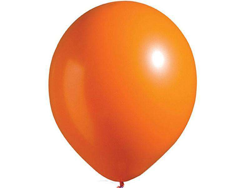 "12"" Metallic Latex Balloons- Happy Orange-25/pk"