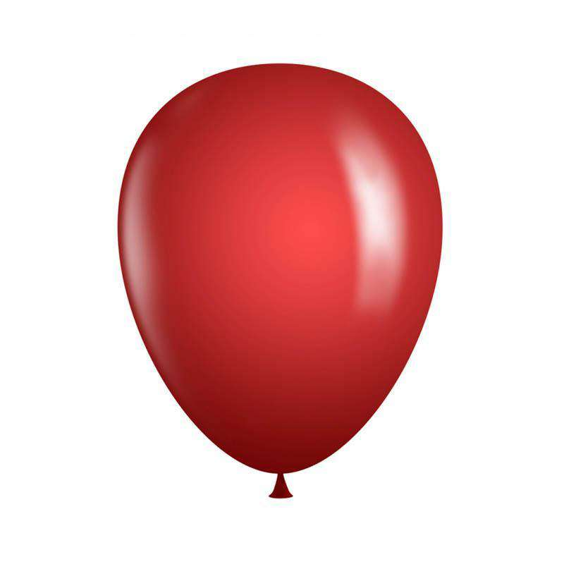 "25 Pack 12"" Red Metallic Latex Water Air Helium Party Balloons"