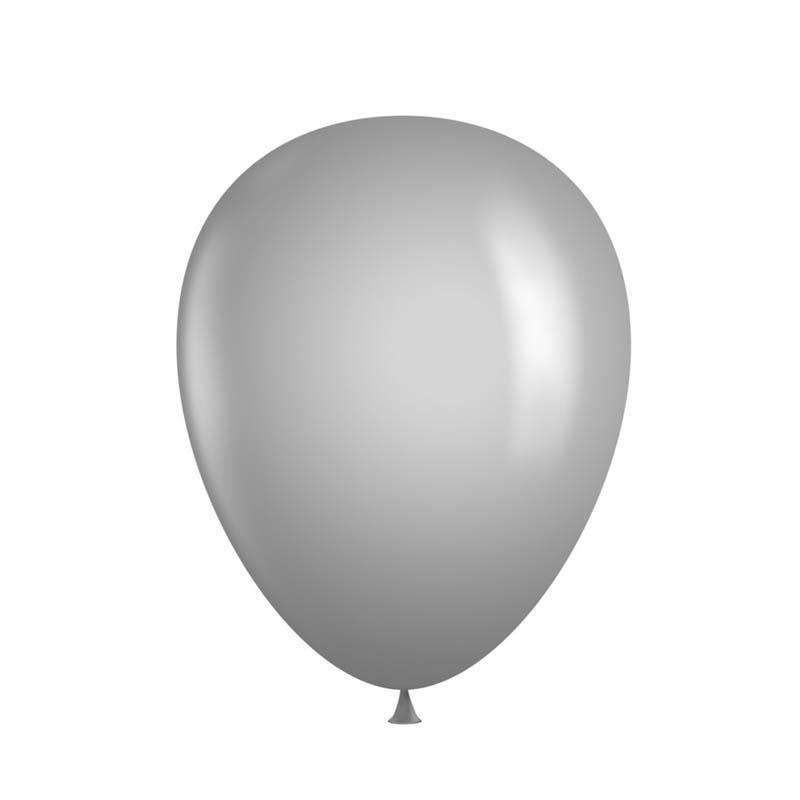 "25 Pack 12"" Silver Metallic Latex Water Air Helium Party Balloons"
