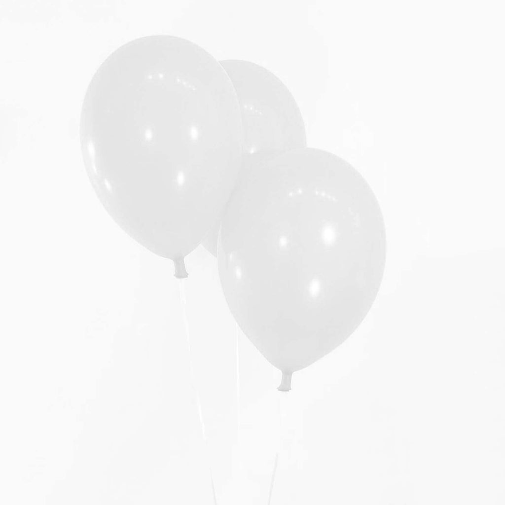 "25 Pack 12"" White Metallic Latex Water Air Helium Party Balloons"