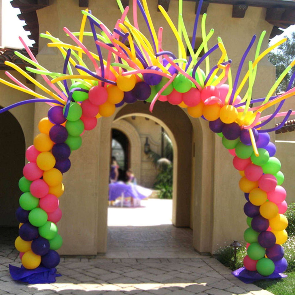 19FT Adjustable Balloon Arch Stand Kit For Wedding Party Birthday Shower Celebration