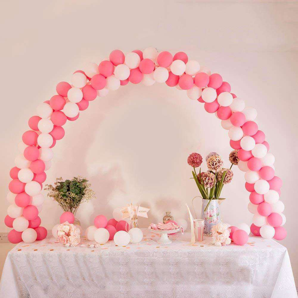 12ft Adjustable Balloon Arch Stand Kit DIY Birthday Decoration ChairCoverFactory