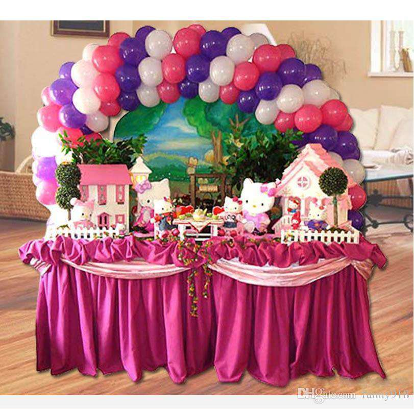 12ft Adjustable Table Top Balloon Arch Stand Kit DIY Birthday Decoration