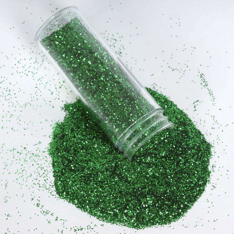 23 gm Extra Fine Flake Green Non Toxic Glitter For Crafts Scrapbooking Parties Festivals Decorations