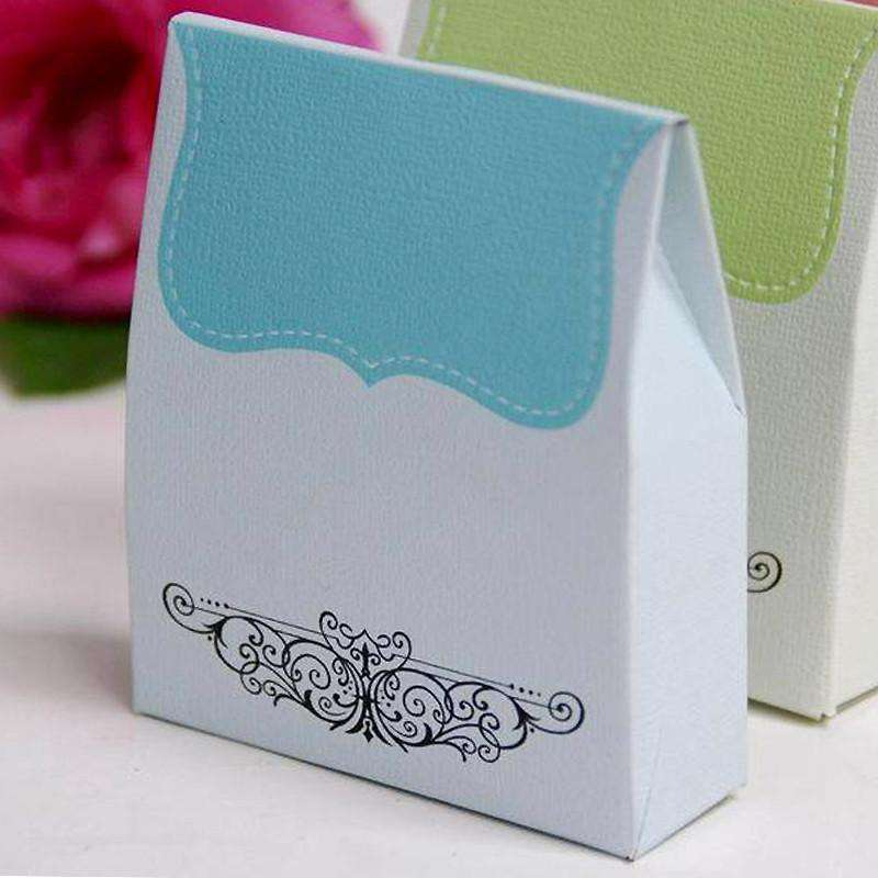 100 PCS Turquoise Tapestry Favor Boxes