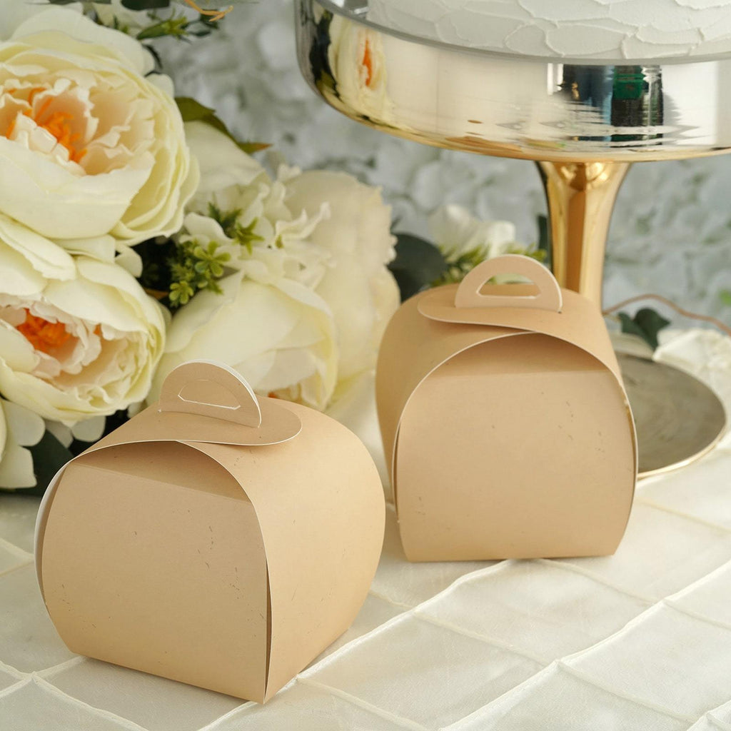 25 Pack | Tan Party Cupcake Boxes | Wedding Favor Boxes