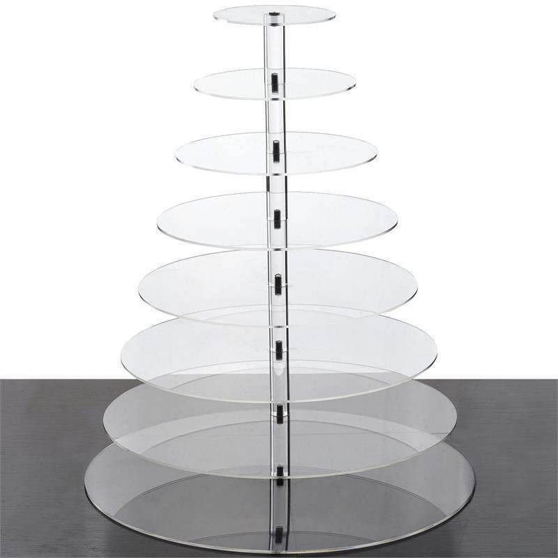 8 Tier HEAVY DUTY Acrylic Crystal Glass Cupcake Dessert Decorating Stand For Birthday Xmas Party Wedding