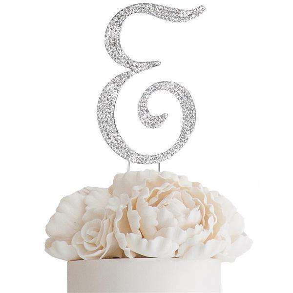 "4.5"" Bedazzling Rhinestone Letter Cake Toppers - A"