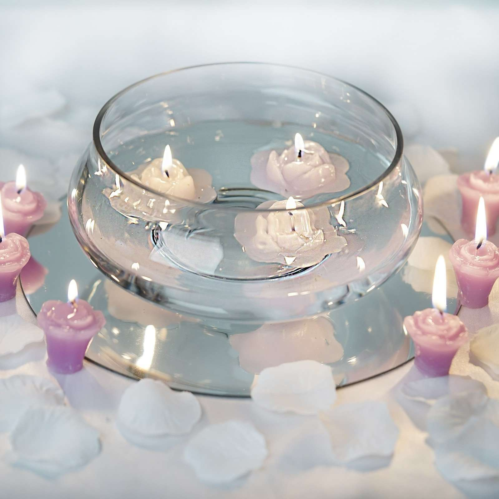 7 Decorating Floating Candle Glass Bowls For Wedding Birthday Party
