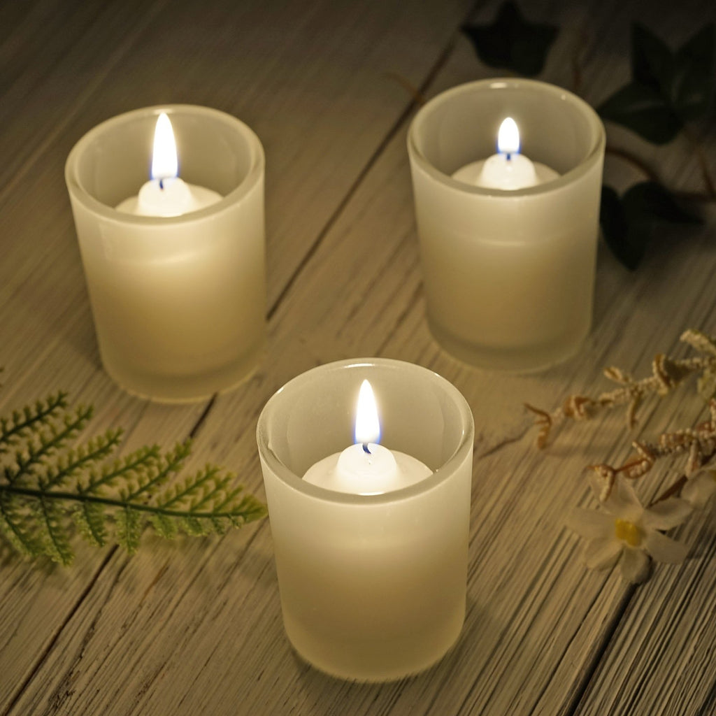 12 Pack Frosted Candle Tea Light Votive Holders