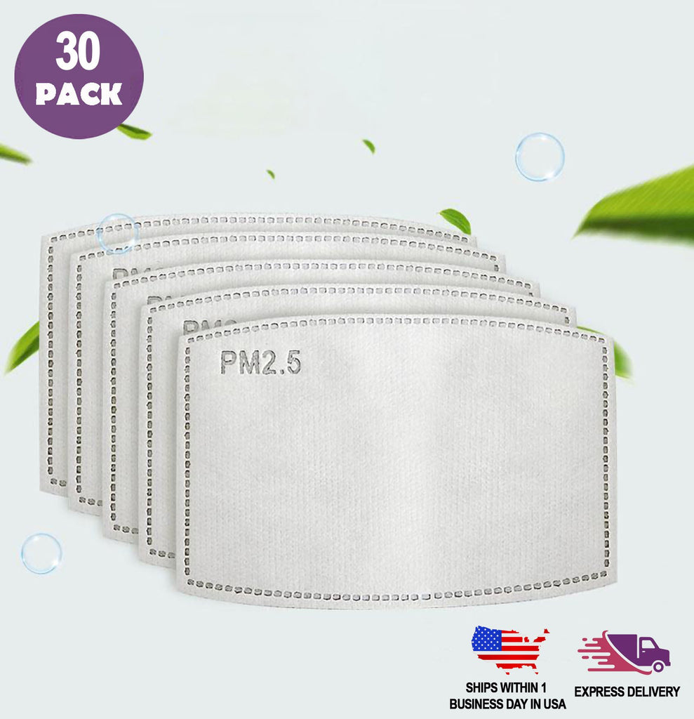 PM 2.5 Activated Carbon Filter, 5 Layer Filtration for Cotton Face Masks | chaircoverfactory