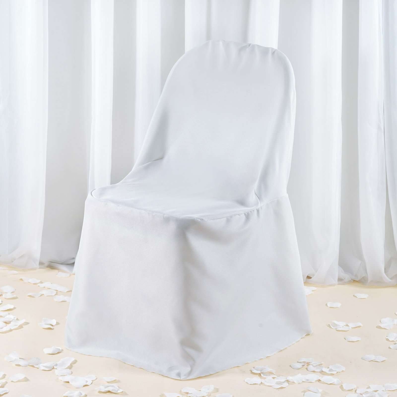 Amazing Premium White Polyester Folding Chair Covers Party Wedding Gmtry Best Dining Table And Chair Ideas Images Gmtryco