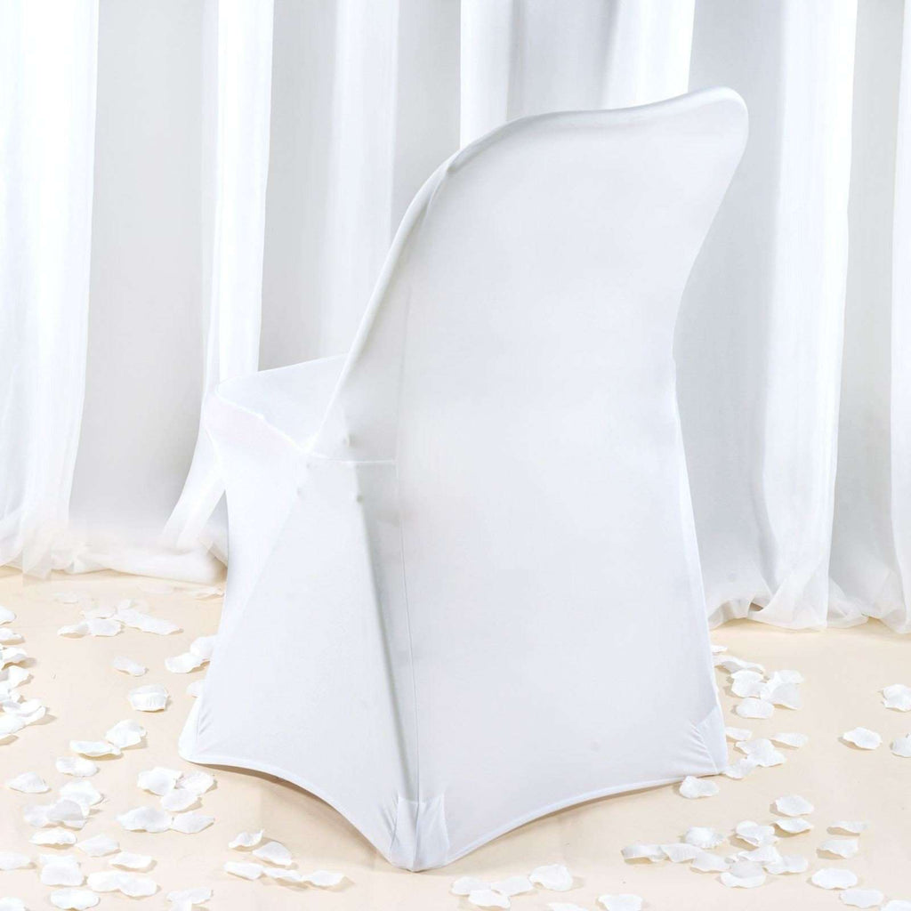 Premium Spandex Folding Chair Cover - White