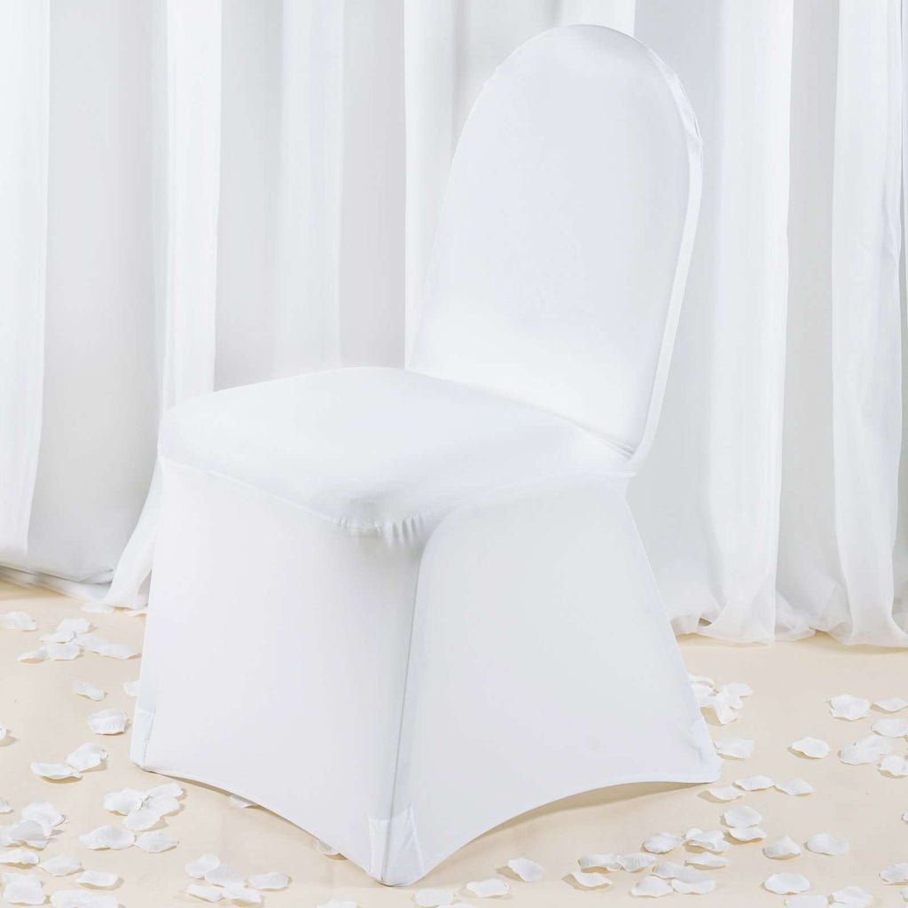 Premium Spandex Chair Cover - White