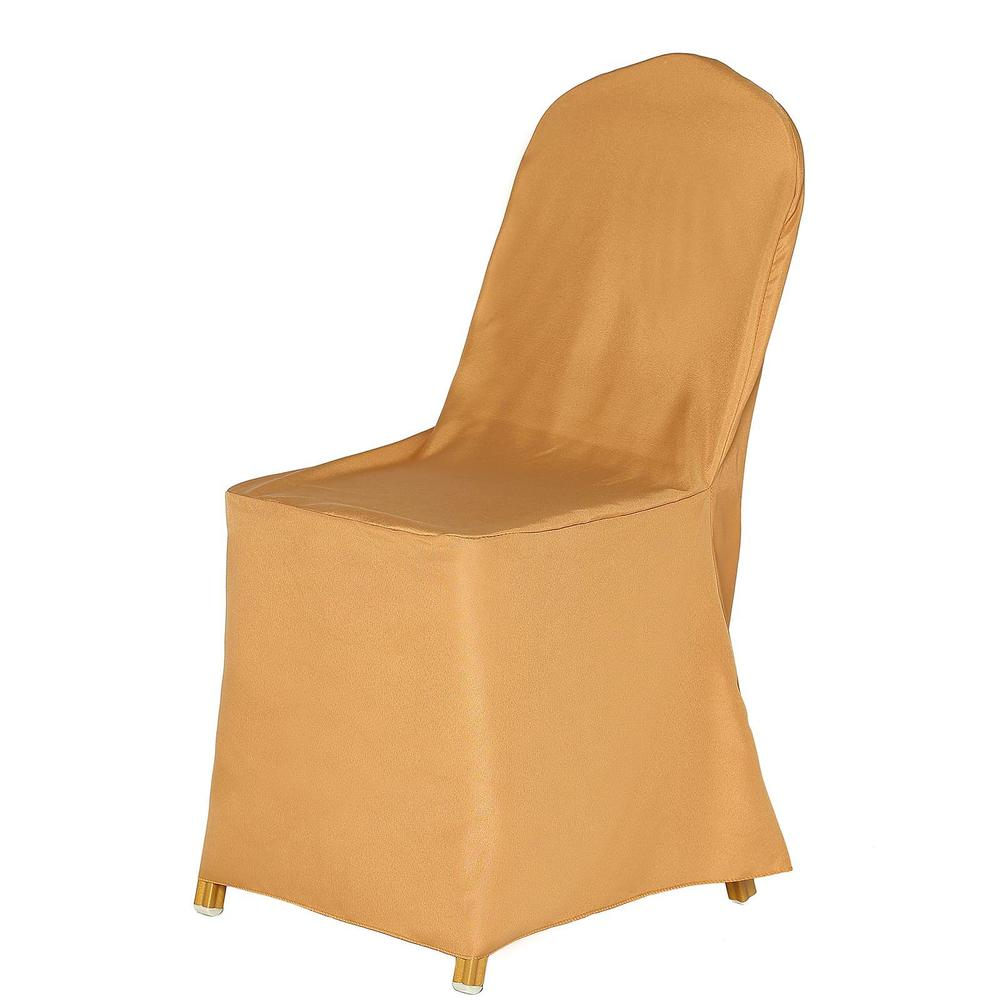 Wholesale Gold Polyester Banquet Chair Covers Party Wedding Event