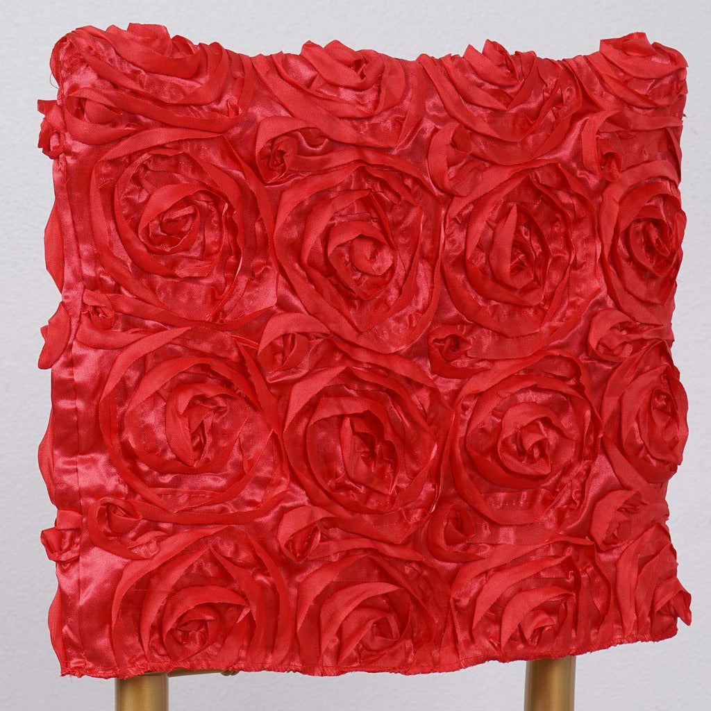 "16"" Coral Rosette Chiavari Chair Caps Cover For Catering Wedding Party Decorations"