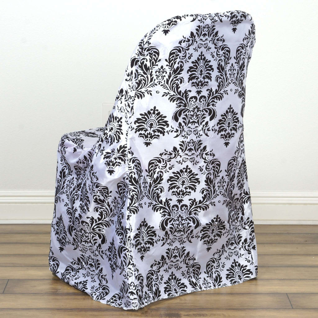 Chair Cover / Folding - Flocking Black /White