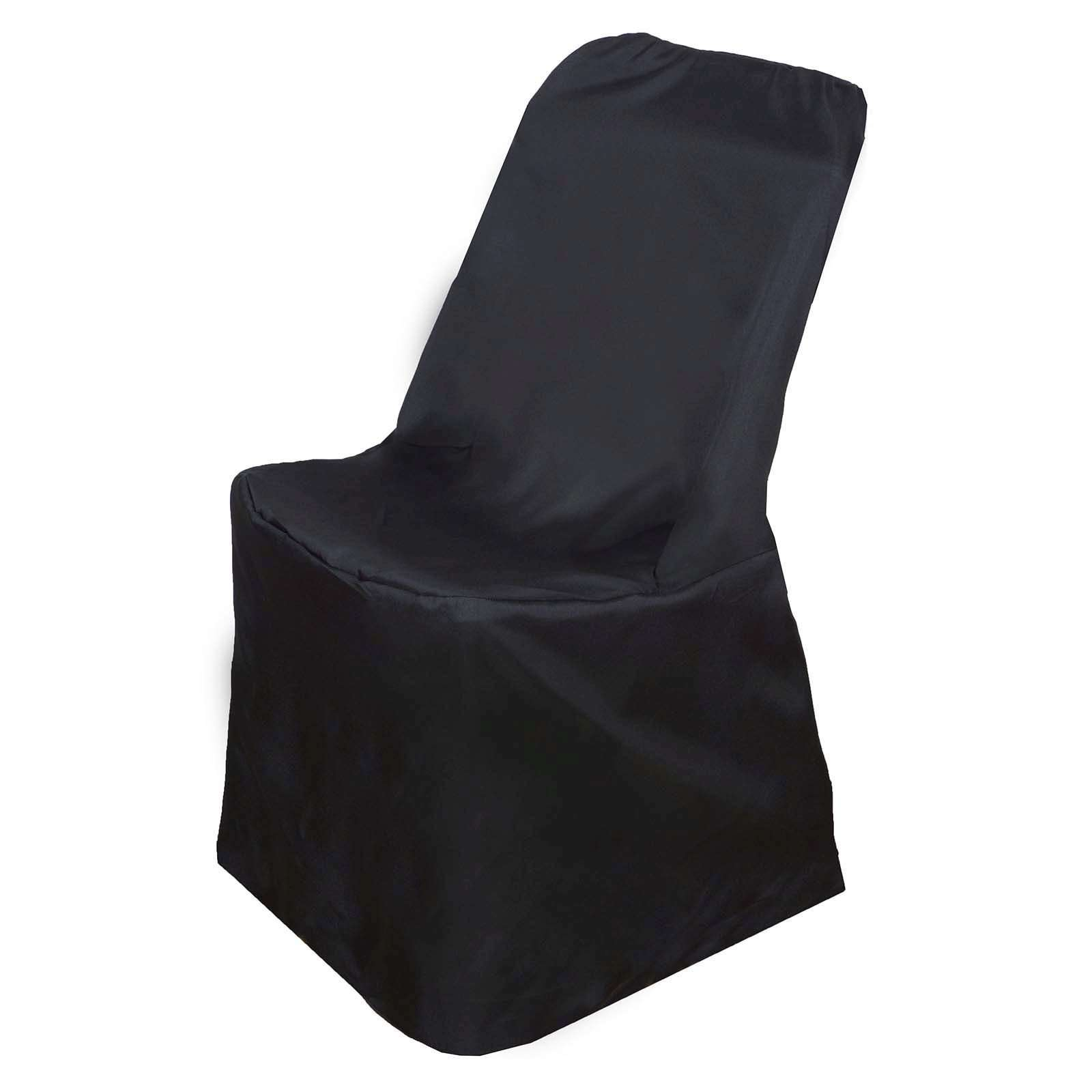 Stupendous Wholesale Black Polyester Lifetime Folding Chair Covers Party Wedding Event Chaircoverfactory Gmtry Best Dining Table And Chair Ideas Images Gmtryco