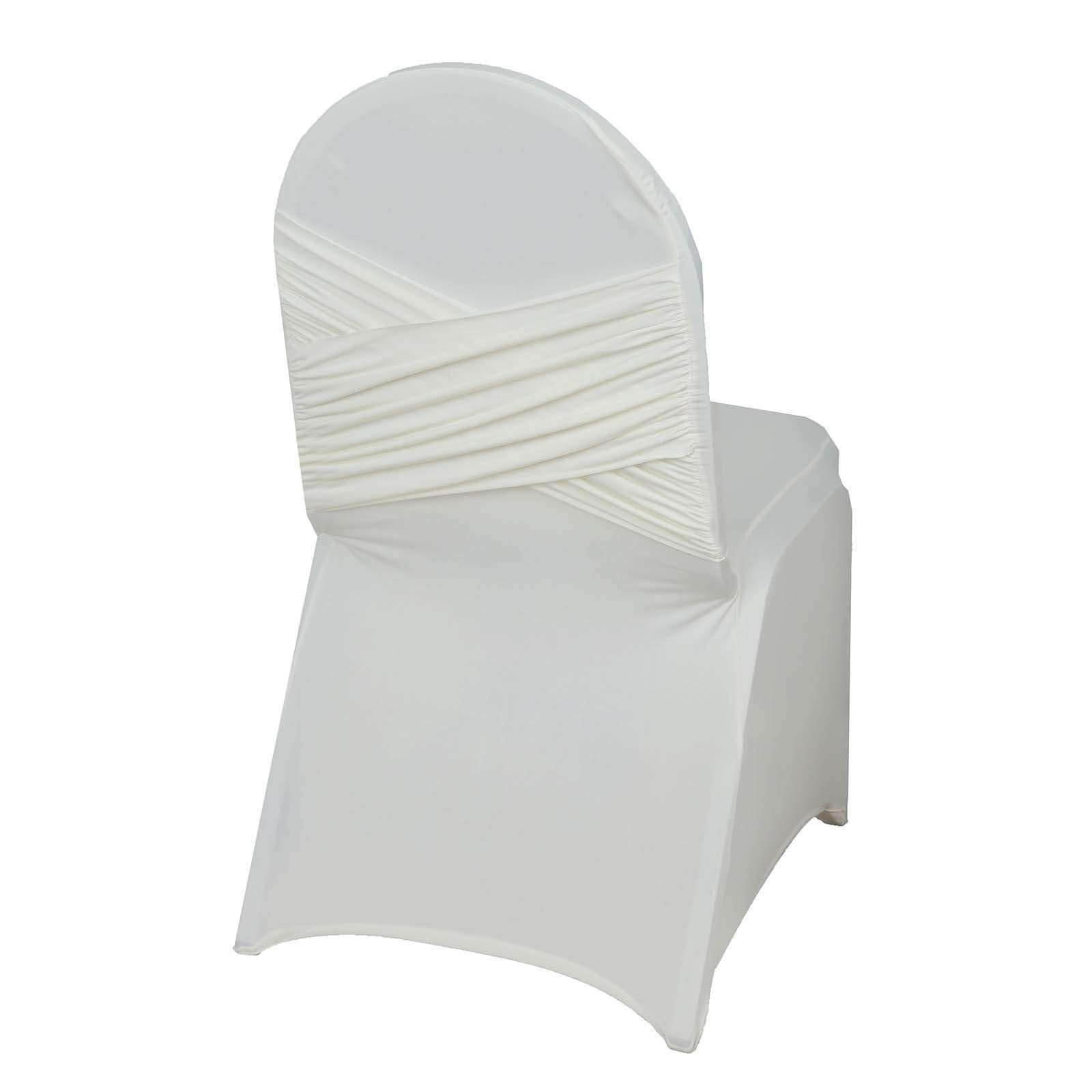 Super Premium Ivory Madrid Spandex Banquet Chair Covers For Wedding Restaurant Events Camellatalisay Diy Chair Ideas Camellatalisaycom