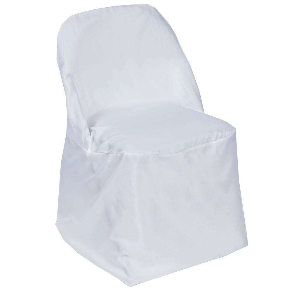 Wholesale White Polyester Folding Chair Covers Party Wedding Event