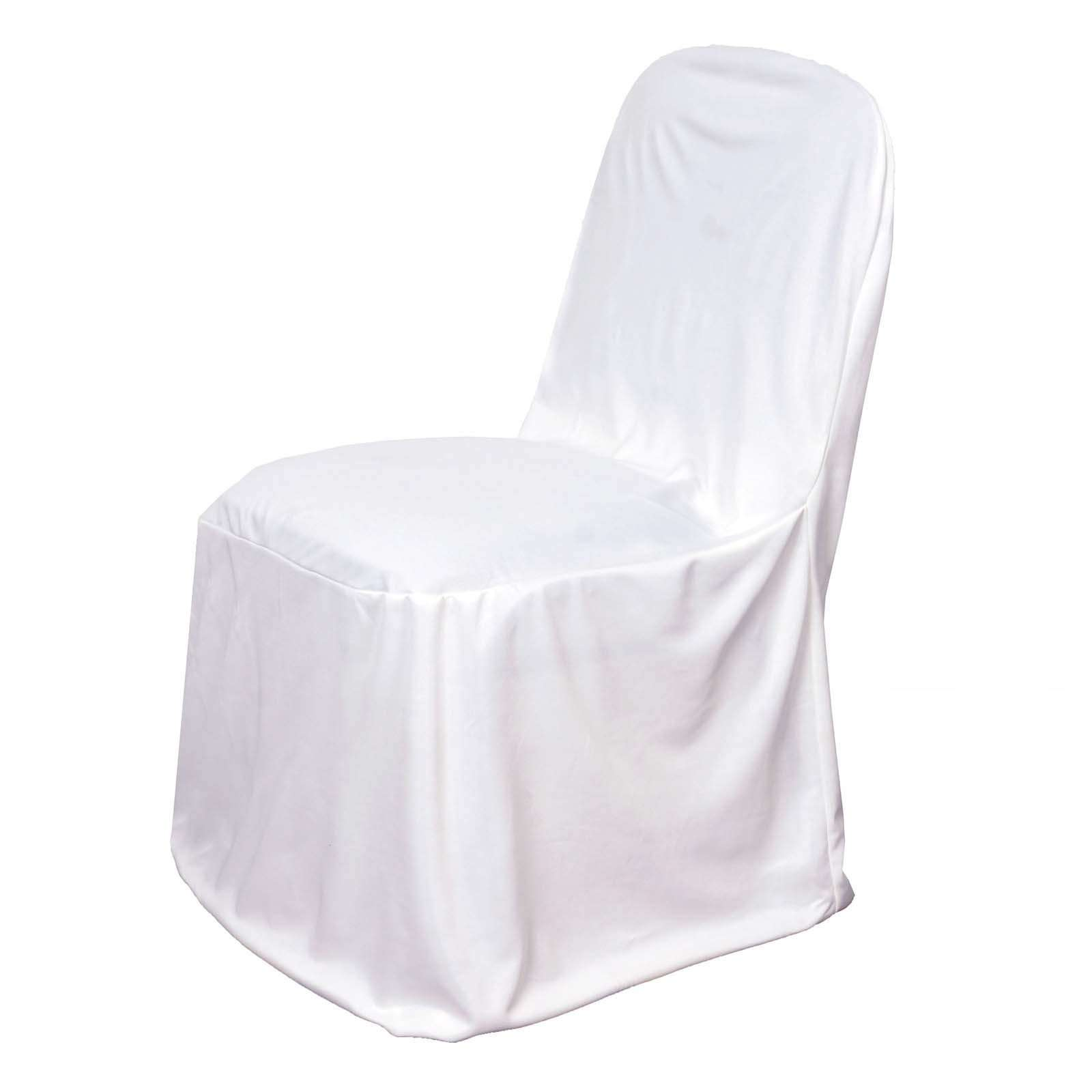 Magnificent White Stretch Scuba Chair Cover For Banquet Wedding Party Decorations Chaircoverfactory Creativecarmelina Interior Chair Design Creativecarmelinacom