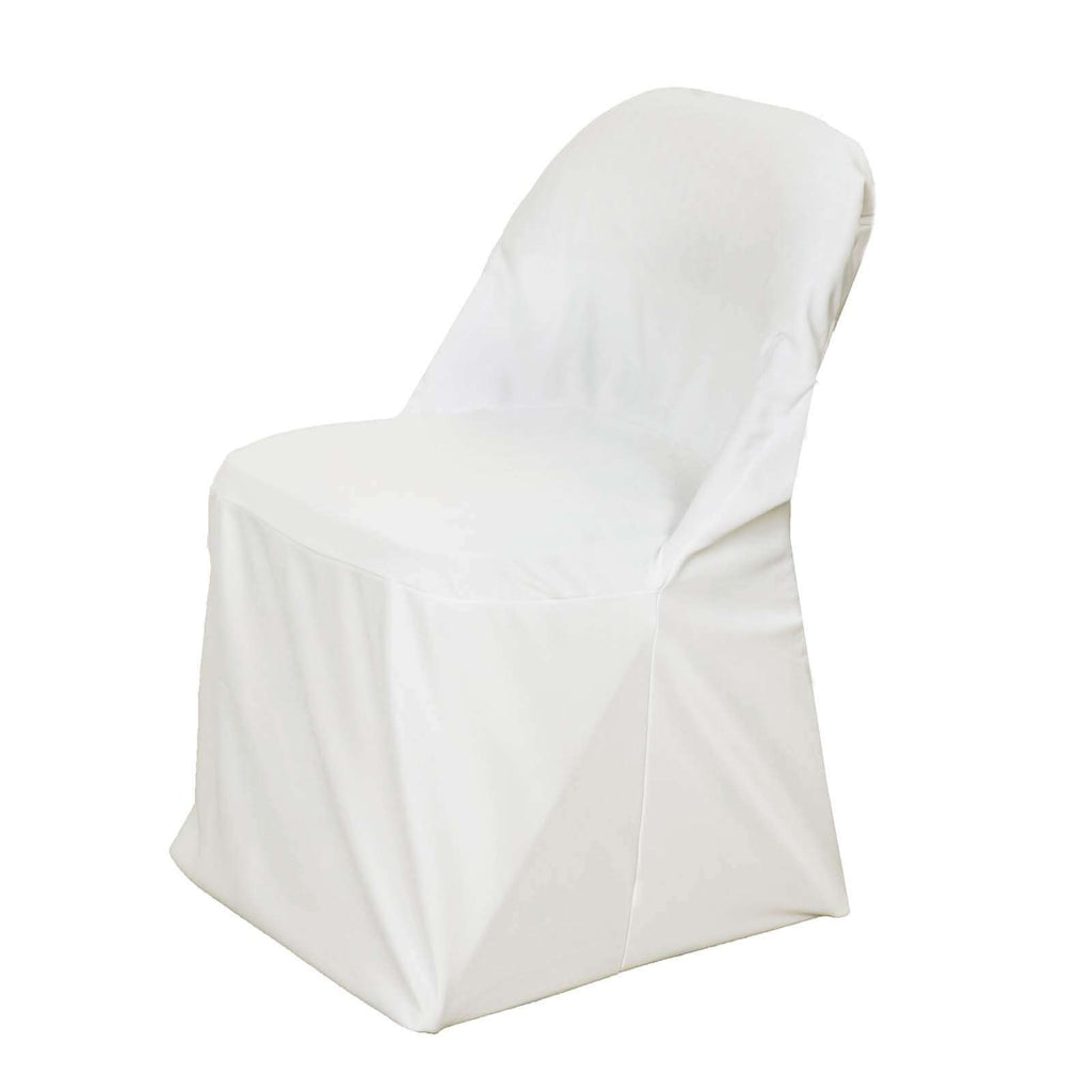 Folding Chair Covers / Stretch Scuba  - Ivory