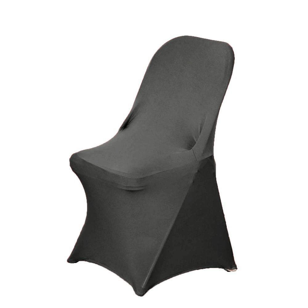 Wholesale Charcoal Gray Spandex Stretch Folding Chair Cover Wedding Party Event