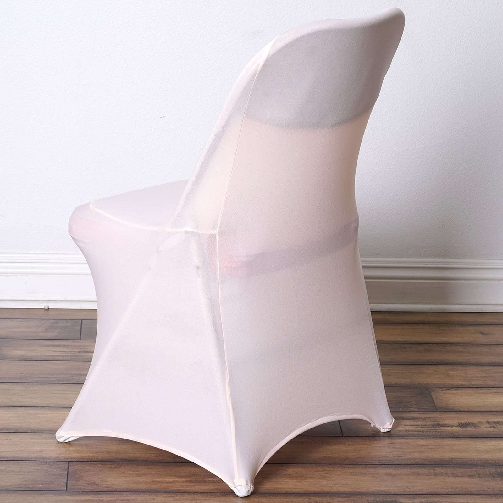 Wholesale Blush Spandex Stretch Folding Chair Cover Wedding Party