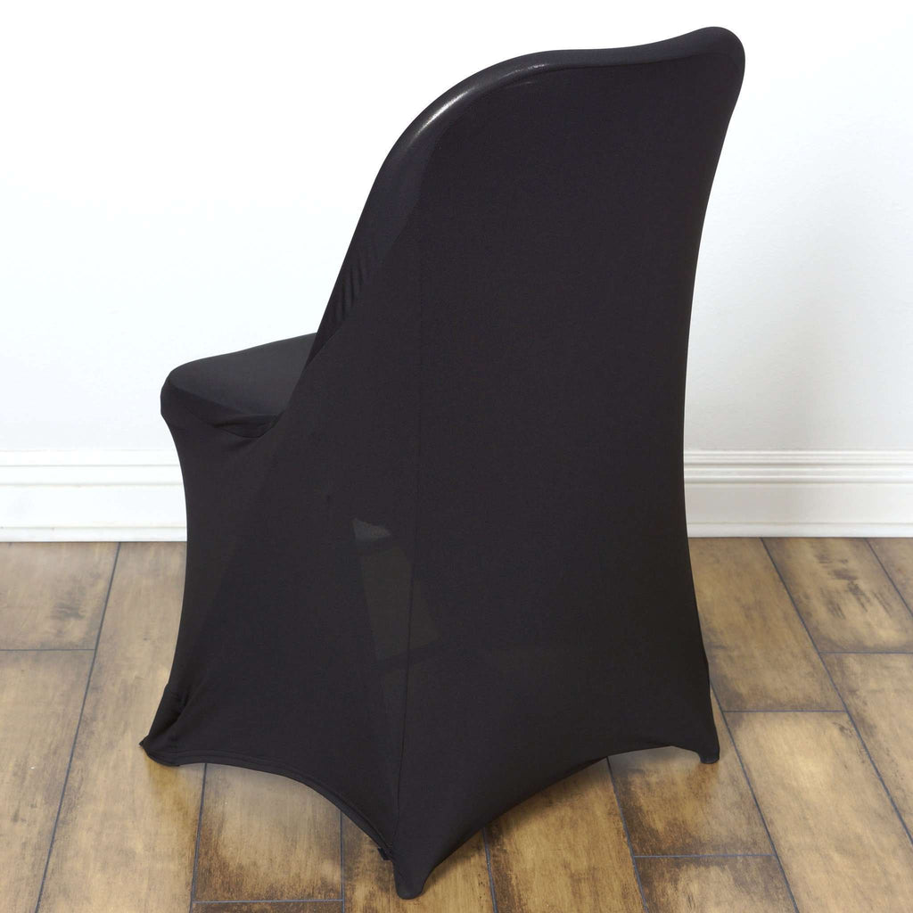 Chair Covers for Folding Chair / Spandex - Black