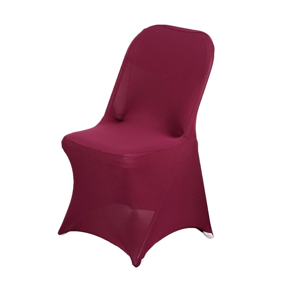 Wholesale Burgundy Spandex Stretch Folding Chair Cover Wedding Party Event