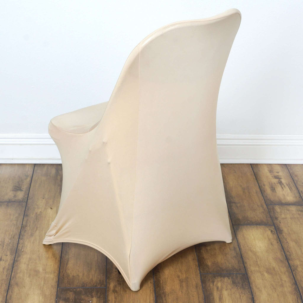 Chair Covers for Folding Chair / Spandex - Champagne
