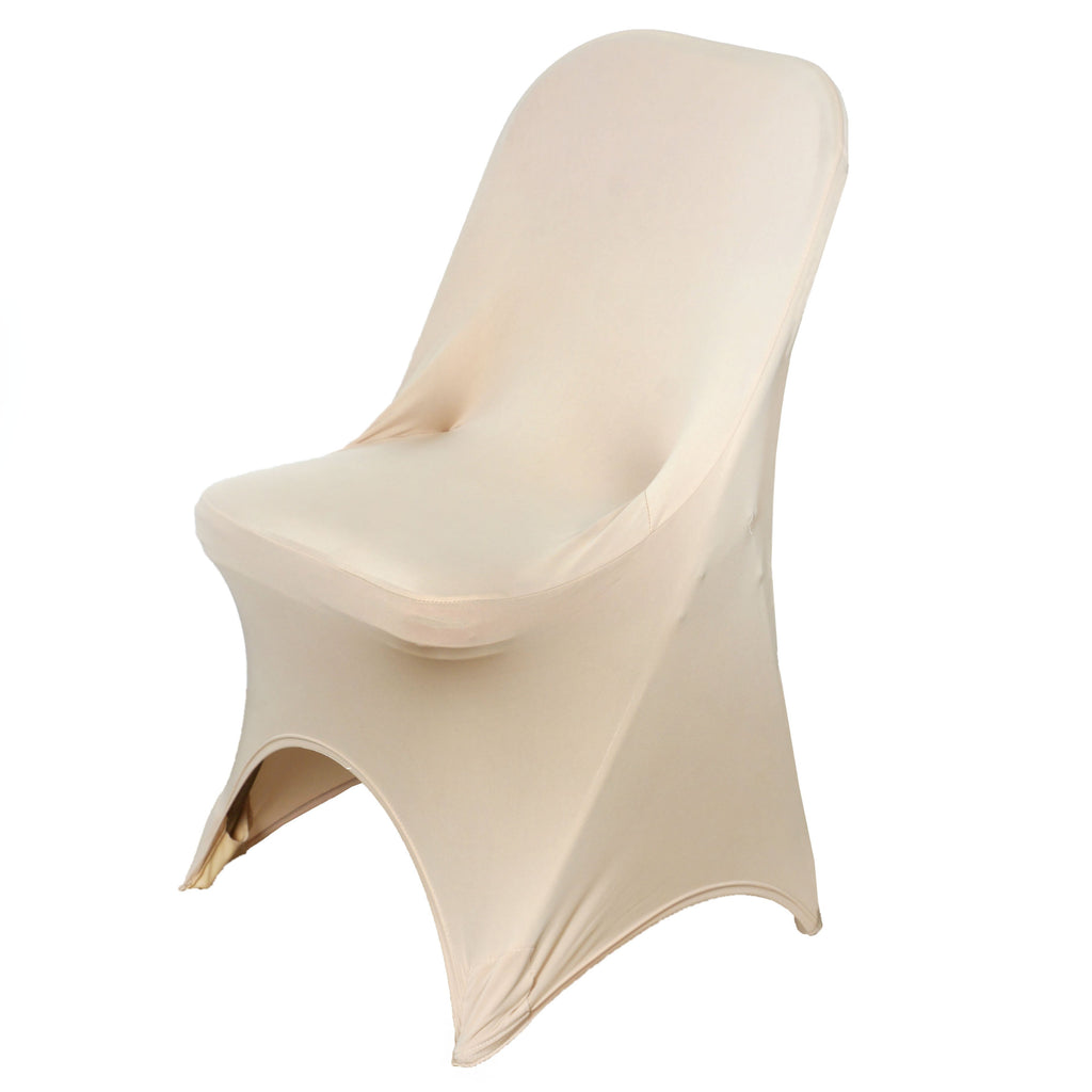 Wholesale Champagne Spandex Stretch Folding Chair Cover Wedding Party Event
